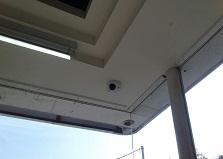 遠隔監視システム導入!廿日市市自動車販売会社様防犯カメラ設置工事
