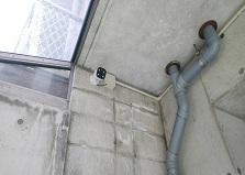 デザイン性も◎広島市中区ビル防犯カメラ設置工事