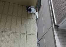 配線工事はプロにお任せ◎福山市戸建て防犯カメラ設置工事
