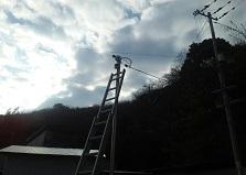 便利な遠隔監視設定!尾道市倉庫防犯カメラ8台設置工事