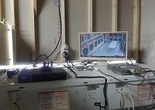 リースで導入!広島市中区コインランドリー防犯カメラ設置工事