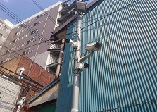 対応地域外もご相談下さい!旦過市場防犯カメラ設置工事