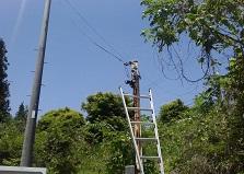 無人の場所の防犯に!広島市安佐北区自販機置き場防犯カメラ設置工事