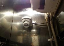 マイク内臓で音声も!広島市中区飲食店防犯カメラ設置工事