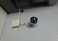不審者対策!岡山市中区企業様事務所防犯カメラ設置工事