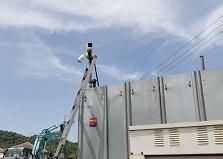 2019.5.30 東広島市資材置き場防犯カメラ設置工事