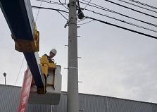 2019.8.5  広島市企業様工場監視カメラ設置工事