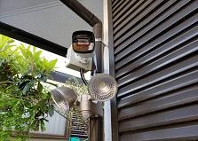 2020.5.16 広島市戸建て住宅 防犯カメラセンサーライト設置工事