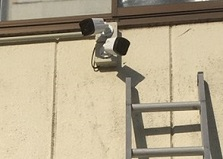 2020.7.30 山口県企業様駐車場 防犯カメラ設置工事