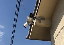 2020.7.22 岡山市アパート物件 防犯カメラ設置工事