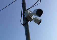山口県事務所/資材置き場 防犯カメラ設置工事