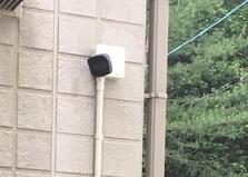 山口県岩国市戸建て住宅 防犯カメラセンサーライト設置工事