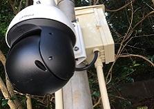 広島市企業様 PTZ監視カメラ設置工事